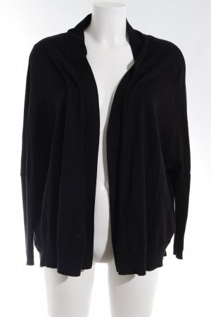 Zara Knit Strickjacke schwarz Casual-Look