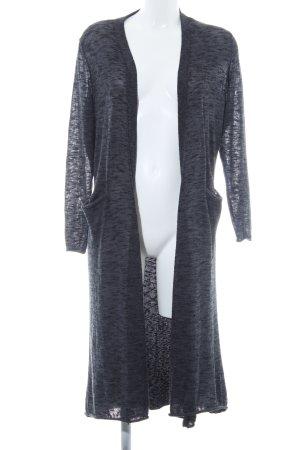 Zara Knit Strickjacke schwarz-dunkelblau Ethnomuster Casual-Look