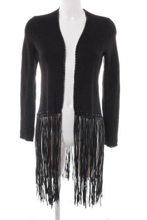 Zara Knit Strickjacke schwarz extravaganter Stil