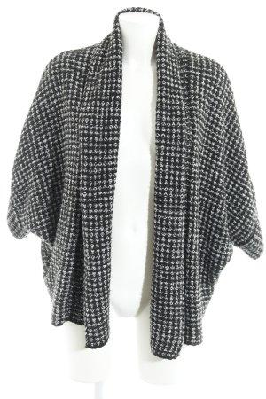 Zara Knit Strickjacke schwarz-weiß Karomuster Casual-Look