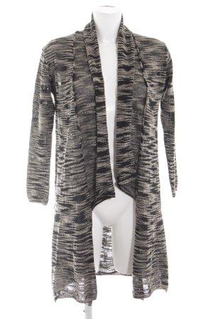 Zara Knit Strickjacke schwarz-wollweiß meliert Casual-Look