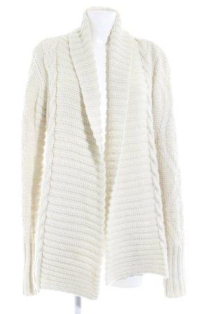 Zara Knit Strickjacke wollweiß schlichter Stil