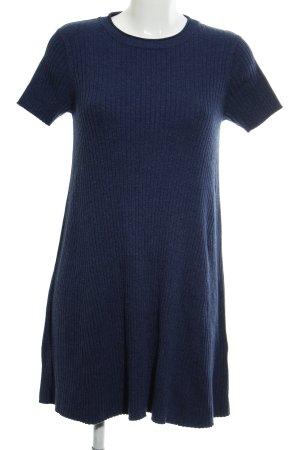 Zara Knit Robe en maille tricotées bleu style décontracté