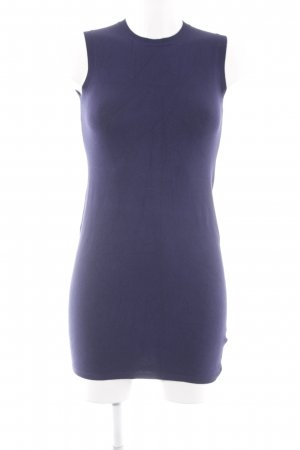 Zara Knit Knitted Dress dark blue elegant