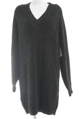 Zara Knit Strickkleid dunkelgrau Kuschel-Optik