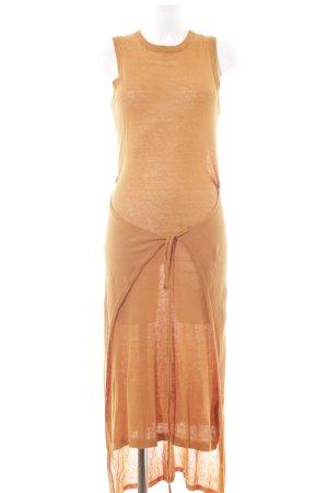 Zara Knit Abito di maglia arancione scuro stile casual
