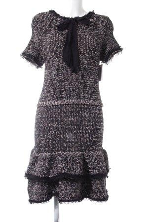 Zara Knit Strickkleid Fischgrätmuster Elegant