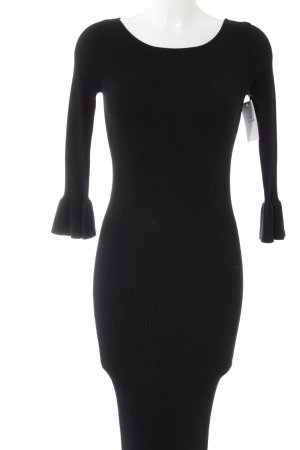 Zara Knit Strickkleid schwarz klassischer Stil
