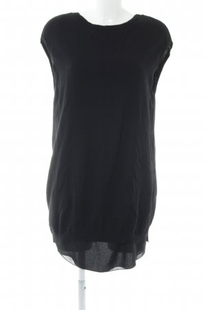 Zara Knit Gebreide jurk zwart minimalistische stijl