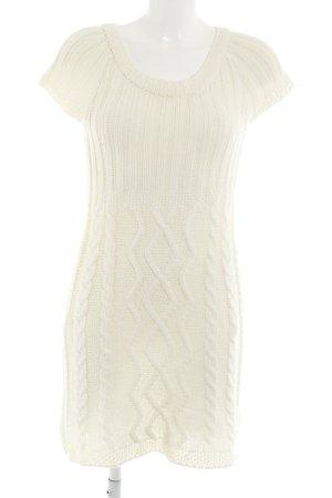 Zara Knit Strickkleid wollweiß Kuschel-Optik