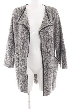 Zara Knit Strickmantel schwarz-weiß Casual-Look