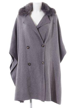 Zara Knit Abrigo de punto gris claro look casual