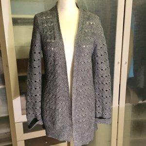 Zara Knit Manteau en tricot gris-gris foncé