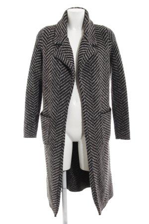 Zara Knit Strickmantel grau-schwarz Zackenmuster Casual-Look