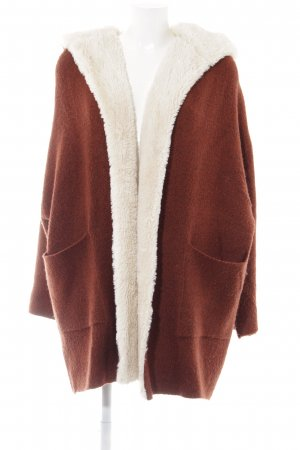 Zara Knit Knitted Coat russet casual look