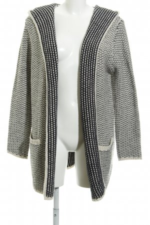 Zara Knit Knitted Coat natural white-black flecked casual look