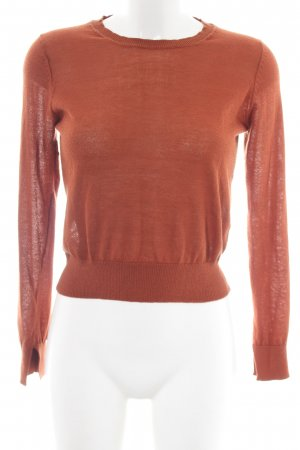Zara Knit Strickpullover hellorange Casual-Look