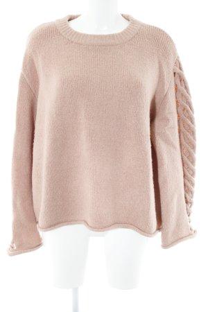 Zara Knit Strickpullover altrosa Casual-Look
