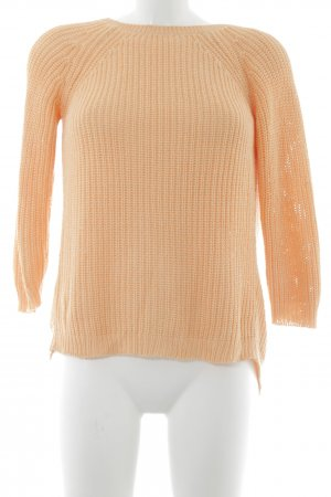 Zara Knit Strickpullover apricot Casual-Look