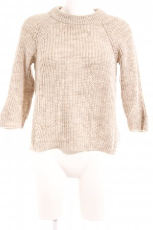 Zara Knit Strickpullover beige Casual-Look