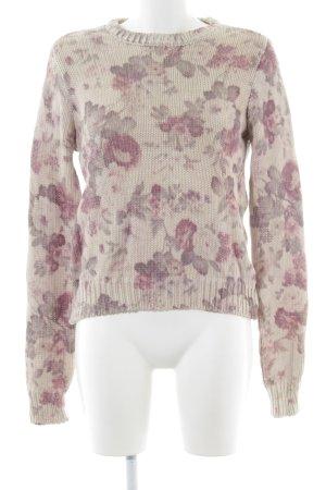 Zara Knit Strickpullover Blumenmuster Casual-Look