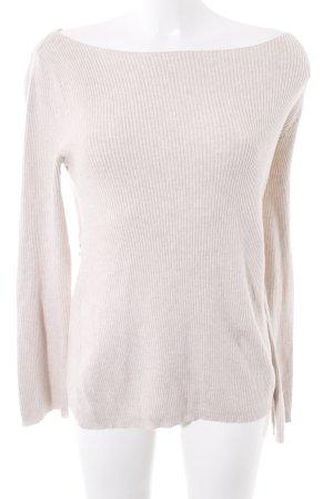 Zara Knit Strickpullover creme Casual-Look