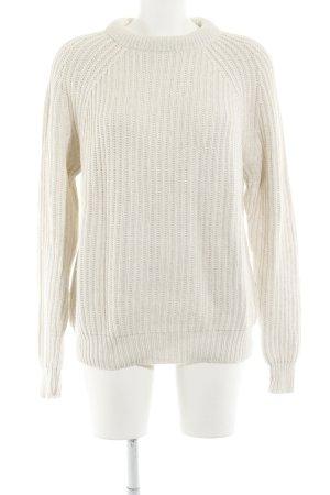 Zara Knit Strickpullover creme Street-Fashion-Look