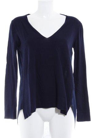 Zara Knit Strickpullover dunkelblau Casual-Look