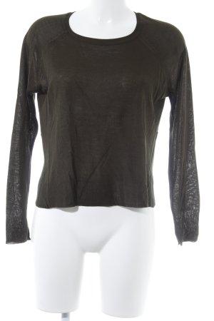 Zara Knit Strickpullover dunkelgrün Casual-Look