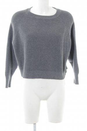 Zara Knit Strickpullover grau Casual-Look