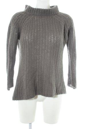 Zara Knit Strickpullover grau Casual-Look