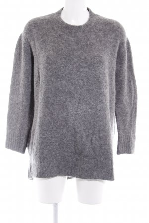 Zara Knit Strickpullover grau-dunkelgrau meliert Casual-Look