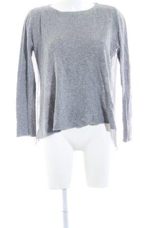 Zara Knit Strickpullover grau-hellgrau meliert Casual-Look