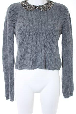Zara Knit Strickpullover grau meliert Street-Fashion-Look