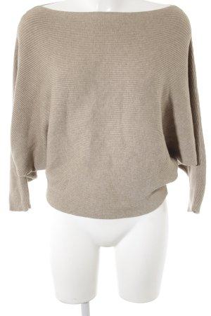 Zara Knit Gebreide trui grijs-bruin casual uitstraling