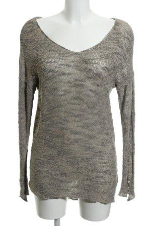 Zara Knit Strickpullover graubraun Casual-Look