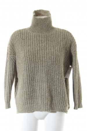Zara Knit Strickpullover graugrün Casual-Look