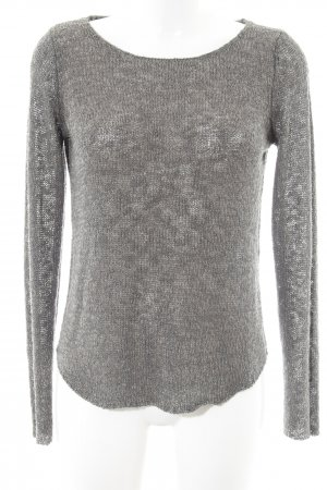 Zara Knit Strickpullover grüngrau Casual-Look