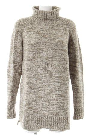 Zara Knit Strickpullover hellbeige-beige Casual-Look