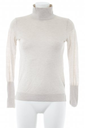 Zara Knit Strickpullover hellbeige Casual-Look