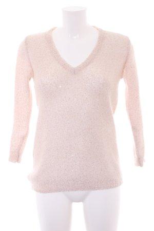 Zara Knit Strickpullover hellbeige-roségoldfarben Casual-Look