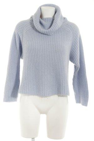 Zara Knit Strickpullover hellblau Casual-Look