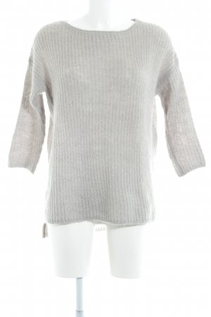 Zara Knit Strickpullover hellgrau Casual-Look