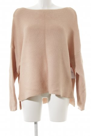 Zara Knit Strickpullover hellrosa Casual-Look