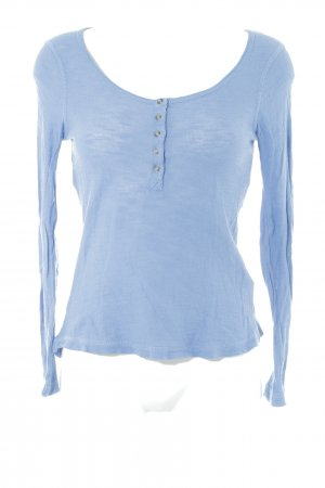 Zara Knit Strickpullover himmelblau Casual-Look