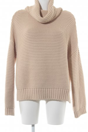 Zara Knit Strickpullover nude Kuschel-Optik