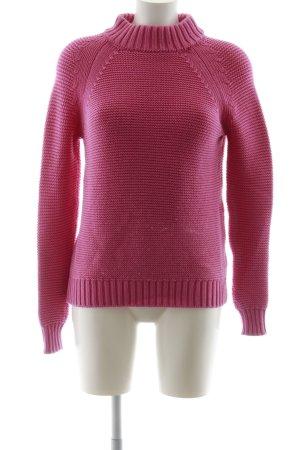 Zara Knit Strickpullover pink Casual-Look