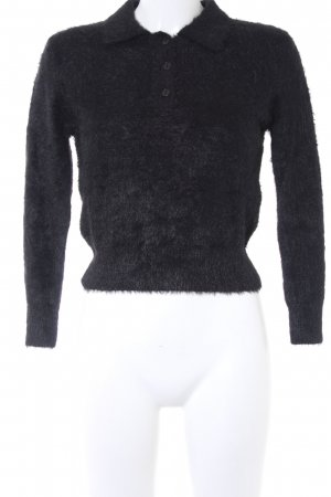 Zara Knit Strickpullover schwarz Casual-Look