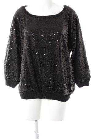 Zara Knit Strickpullover schwarz extravaganter Stil