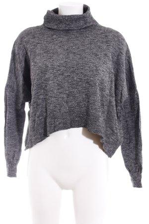 Zara Knit Strickpullover schwarz-grau meliert Casual-Look